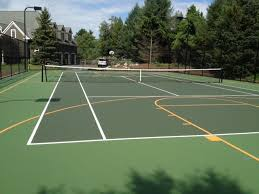 pickleball court size sports courts dimensions