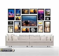 17 piece multi picture frame photo