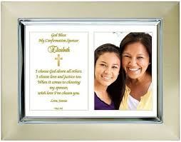 custom confirmation sponsor gift personalize with name and date add photo