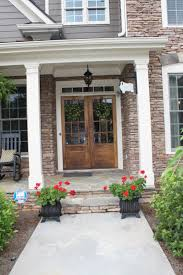 southern front doorsdouble front doors  hanging lanterns and double front doors a