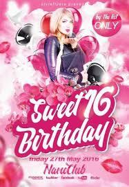 Birthday Flyers Sweet 16 Birthday Psd Flyer Template