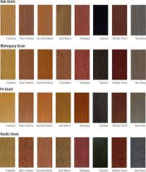 Fiberglass Door Stain Color Chart Google Search Staining