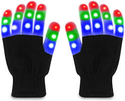 Light Up Gloves Amazon Tobehigher Led Gloves Light Up Gloves Finger Lights 3 Colors 6 Modes Novelty Light Up Toys Perfect For 8 Teens Adult Glow In The Dark