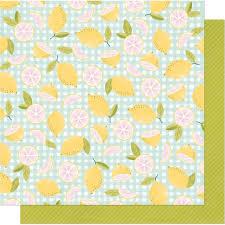 Pink Lemonade Designs Dear Lizzy 12x12 Double Sided Cardstock Its All Good Pink Lemonade