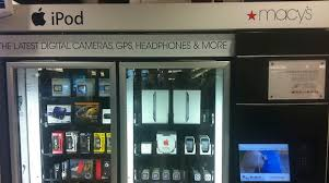 Electronics Vending Machine Extraordinary IPad Vending Machine Spotted In Macy's Mens Department