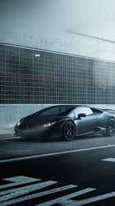 awesome lamborghini huracan vellano matte black car iphone6 plus wallpaper