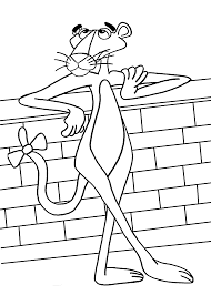 Printable Pink Panther Coloring Pages For
