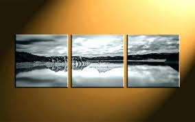 panoramic wall art decor home 3 piece canvas prints landscape black and uk