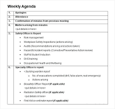 Template Agenda Word Formal Meeting Agenda Template Word Weekly Sample Updrill Co