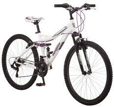 Mongoose Ledge 2 1 Mountain Bike 26 Inch Wheels 21 Speeds Womens Frame White Walmart Com