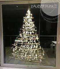 Weihnachtsbaum Am Fenster Weihnachtsdeko Fenster