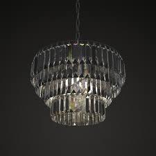 mid century crystal chandelier 3d model