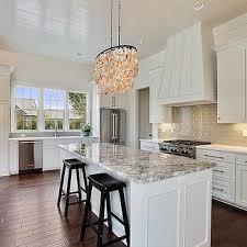 granite kitchen countertops with white cabinets. White Kitchen Island With Gray Granite Countertops Cabinets