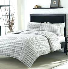 grey flannel duvet cover plaid set sets canada grey flannel duvet cover cotton reversible windowpane plaid set