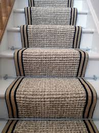 stair runner carpet wool hemp wool hemp black border wool hemp striped