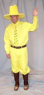 man in the yellow hat costume is provided free of charge by the publishers for promotional book character