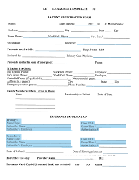 medical patient registration form form patient registration form