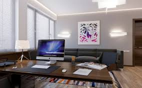 personal office design. plain design interior design and visualization of a personal office room to design i