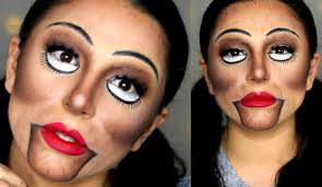 creepy ventriloquist doll makeup tutorial 2016