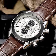 megir watch reviews online shopping megir watch reviews on megir fashion leather sports quartz watch for man military chronograph wrist watches men army style 2020 shipping