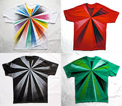 a few weeks ago i had fun hand painting this series of tees with spraypaint it s always exciting to try new things and push the limits of diffe