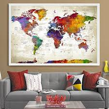 push pin travel world map extra large wall art world ma https www amazon dp b077t4sr44 ref cm sw r pi dp x k5itabkcs647m pinterest extra  on amazon extra large wall art with push pin travel world map extra large wall art world ma https