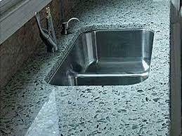 image of recycled glass countertops design