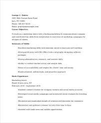 45 Marketing Resume Templates Pdf Doc Free Premium Templates