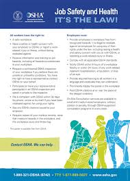 OSHA's Workplace <b>Poster</b> - English Version - Publication 3165 ...