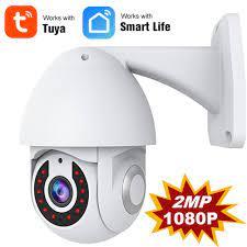 Tuya Smart Kamera HD 1080P Outdoor Wireless WiFi IP Kamera Zwei wege Audio  Auto Tracking Nachtsicht IP65 Wasserdicht smart Leben|Surveillance Cameras