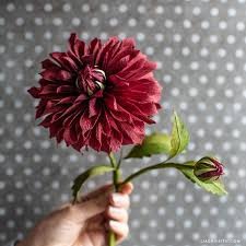 Dahlia Flower Making With Paper October Member Make Crepe Paper Dahlia Flower Lia Griffith