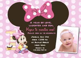baby mickey mouse invitations birthday baby minnie mouse 1st birthday custom photo birthday party