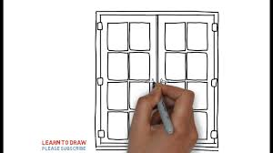 window drawing. Plain Window How To Draw A Window Step By For Kids Inside Drawing D