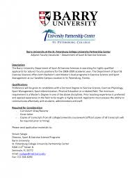 cover letter for faculty positions examples sample cover letter adjunct instructor