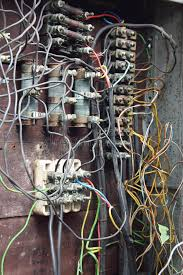 closeup of old electric box with wiring stock image image 20381759 national electric code junction box at Elec Box Wiring