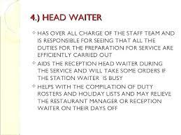 Waitress Description For Resume Waiter Job Description Resumes