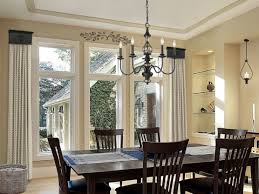 dining room window treatment