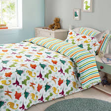 beautifully idea dinosaur double bedding dreamscene duvet cover pillowcase kids set stripe single canada hiccups full
