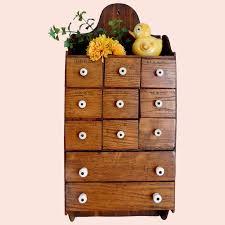 vintage wall wood spice cabinet shelf