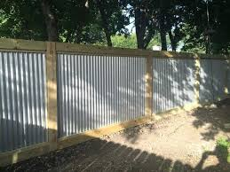 Corrugated Metal Fence Corrugated Metal Fence Metal Fences Fencing