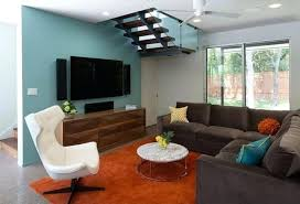 blue walls brown furniture. Living Room Accent Wall With Brown Furniture Blue Paint And In Dark . Walls