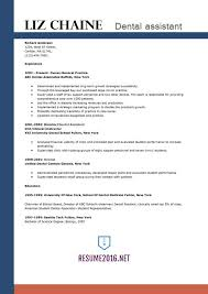 Resume Template Dental Assistant Example With Experience As General