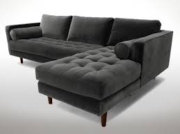 Image Living Room Gray Tufted Sectional Hgtvcom 11 Of The Best Velvet Sofas To Decorate With Hgtvs Decorating