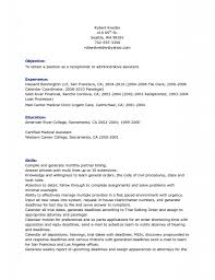 Receptionist Resume Objective With Career Objectives Exa Peppapp