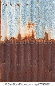 rusty corrugated metal wall rusty zinc grunge style background csp47656632