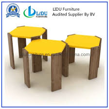wooden coffee tables set simple side