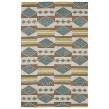 kaleen nomad turquoise 8 ft x 10 ft area rug