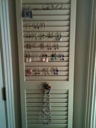 old closet door display idea