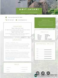 Cv Template With A Muted Photo Background And Boxes For