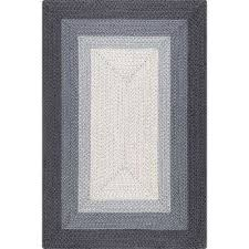 braided annemarie ombre border grey 7 ft 6 in x 9 ft